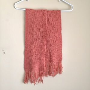 Accessories - handmade knit pink scarf